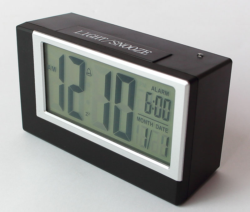 lcd digitaluhr wecker digitalwecker reisewecker mit nachtsensor tischuhr 2165 ebay. Black Bedroom Furniture Sets. Home Design Ideas