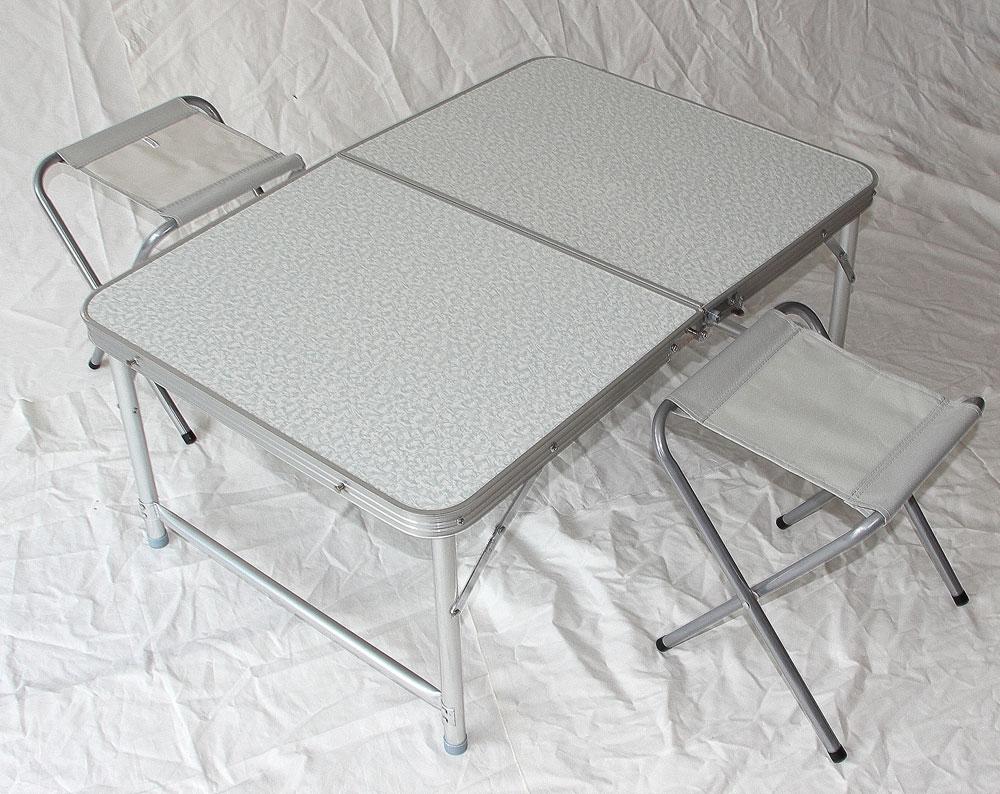 klapptisch campingtisch mit 2 st hle klappstuhl tisch koffertisch tisch8812 ebay. Black Bedroom Furniture Sets. Home Design Ideas