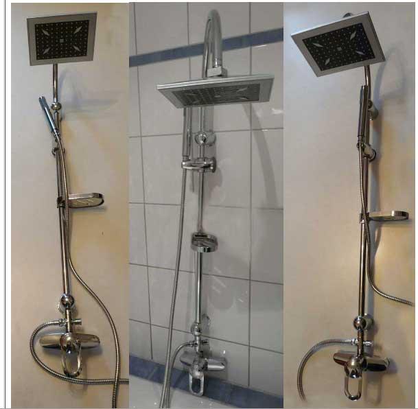 Duscharmatur Montieren : Duschs?ule Armatur Duscharmatur Duschpaneel Regendusche Duschgarnitur