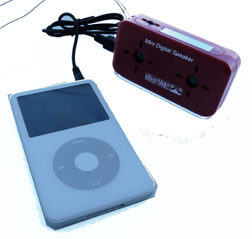 akku lautsprecher boxen f r mp3 player und handy in rot ebay. Black Bedroom Furniture Sets. Home Design Ideas