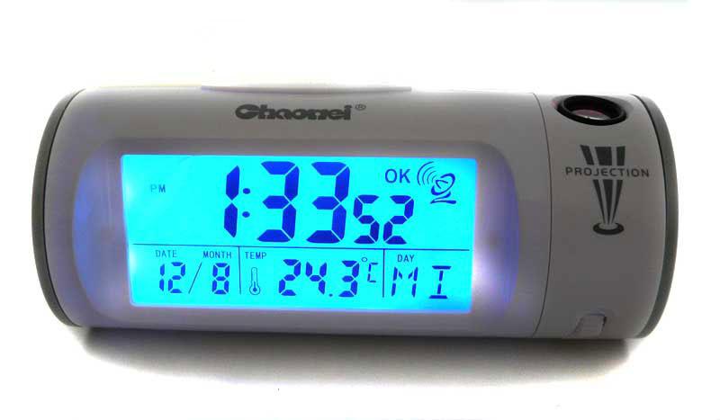 projection alarm clock projection clock radio clock alarm clock cw8297g ebay. Black Bedroom Furniture Sets. Home Design Ideas